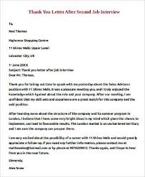 thank you letter after second interview rejection cover