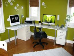 luxury home office gallery wall industrial style desk