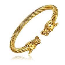 stainless steel mens bangle bracelet images Mens stainless steel gold tone adjustable twisted jpg