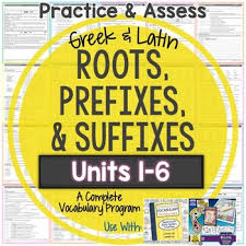 greek and latin roots worksheets and tests units 1 6 huge bundle