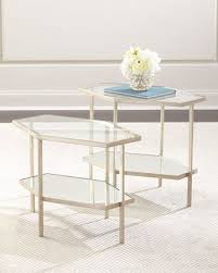 Marble Accent Table Marble U0026 Mirrored Coffee Tables At Neiman Marcus Horchow
