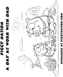 coloring page piggy nation