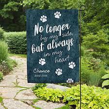 pet memorial pet memorial personalized garden flag paw prints