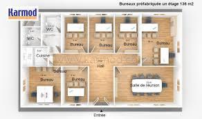 plan des bureaux bureaux préfabriquée 136m bungalow bureau bureau modulaire