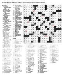 the new york times crossword in gothic august 2012