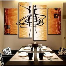 abstract dancers wall canvas figure painting and art walls