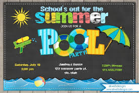 summer pool invitation schools out for summer invite