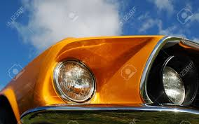 Classic American Muscle Cars - colorful classic american muscle car abstract stock photo picture