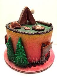 camping birthday cake cakecentral com