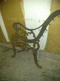 antique iron bench piece estatesales org
