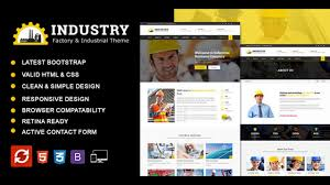Industrial Theme by Industry Factory U0026 Industrial Business Html Template