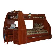 Bunk Bed With Desk And Trundle Wooden Bunk Bed With Desk And Drawers Feat Rustic