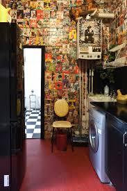 Ukrainian Apartment Interiors Musician Bohemian Loft Apartment The Vintage Pinup Wall Art Is So Rock N
