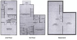 Three Bedroom Townhouse Manitou Woods Apartments U003e Three Bedroom Townhouse