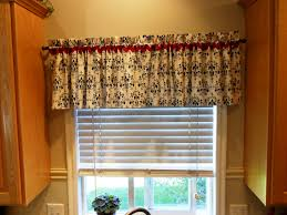 kitchen simple valance patterns for windows with colourful