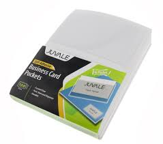 amazon com business card plastic sleeves self adhesive poly