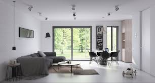 Living And Dining 2 Open Plan Living And Dining Room Design With Sleek Interior