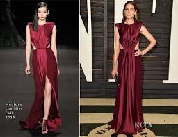 Vanity Fair Oscar Party Michelle Monaghan In Monique Lhuillier 2015 Vanity Fair Oscar