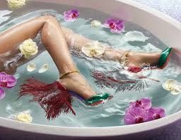 louboutin hits the tub for ss15 fashion journal