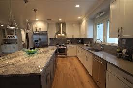 white shaker kitchen cabinets with gray quartz countertops gray quartz kitchen countertops design ideas countertopsnews