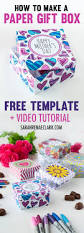 how to make a paper gift box free template for mother u0027s day