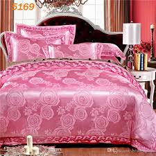 Silk Duvet Cover Queen Flowers Pink Silk Bedding Set King Size Stain Silk Beddings Queen