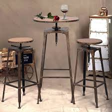 Vintage Bistro Table And Chairs Amazon Com Giantex 3pc Industrial Vintage Metal Design Bistro Set