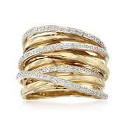 highway wedding band sterling silver gold and diamond highway rings ross simons