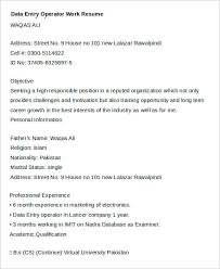 best resume for data entry operator contemporary simple resume