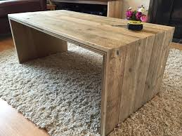 coffee table reclaimed scaffold boards pallet plywood mitre
