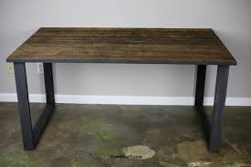 Modern Rustic Desk Dining Table Desk Modern Industrial Mid Century Rustic