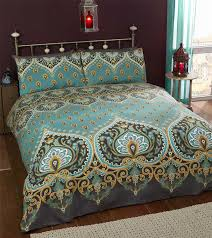 Perry Ellis Asian Lilly 3 Piece Mini Duvet Cover Set Asian Duvet Cover Asian Duvet Cover Blue And White Fl Saffron