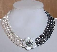 necklace designs making images 7 8mm white akoya cultured pearl onyx necklace fashion jewelry jpg