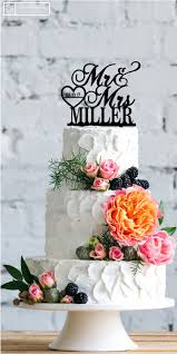 customized wedding cake toppers personalized mr mrs last name date heart custom wedding cake