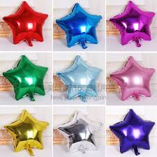 1stks 18 inches 45 cm aluminum foil star balloon metallic helium 7