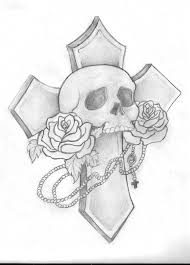 skull and cross drawing by thornton