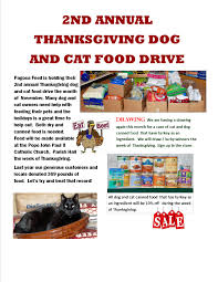 2nd annual thanksgiving and cat food drive pagosa feed nursery