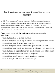 Executive Resumes Samples by Top 8 Business Development Executive Resume Samples 1 638 Jpg Cb U003d1429861332