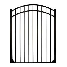 allure aluminum metal fence gates metal fencing the home depot