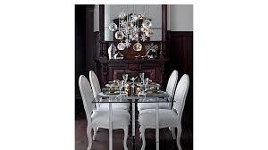 chrome dining room sets impressing silverado 72 chrome dining table cb2 in rectangular room