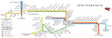 Map Of Rome Italy by Map Of Rome Tram Stations U0026 Lines
