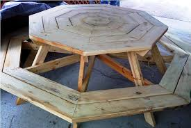 octagon picnic table plans home decor u0026 furniture