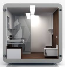 bathroom in a box modular bathroom is low on space but high on efficiency