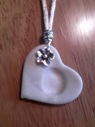 s day necklaces fingerprint heart necklace dough recipe this for the
