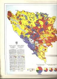 Bosnia Map Ethnic Map Of Bosnia And Herzegovina From 1910 Serbs Are Shown As