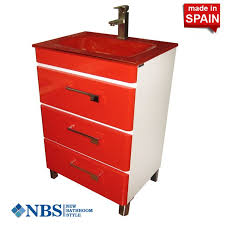 Bathroom Vanity 24 Inch by Socimobel 24 Inch Red White Yane Modern Bathroom Vanity