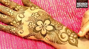 wedding season floral mehndi designs for easy simple