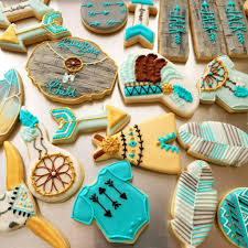 little boho child baby shower cookies the iced sugar cookie