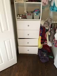 built in closet drawers falling off track home improvement stack