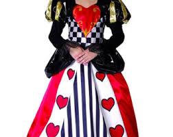Halloween Costumes Queen Hearts Queen Hearts Costume Etsy